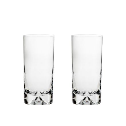 2 Highball Gin & Tonic Tumblers (Dimple based) (Gift Boxed)