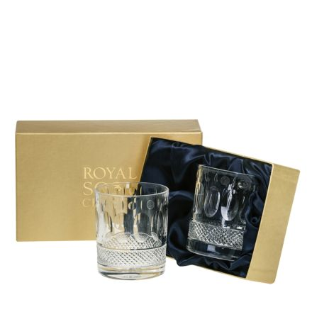 Belgravia - 2 Crystal Large Gin & Tonic Tumblers (Clear) (Presentation Boxed)