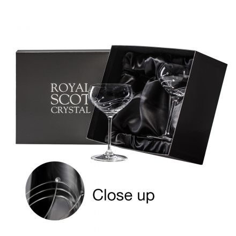 Diamante (Swarovski crystals) - 2 Gin Cocktail glasses (Presentation Boxed)