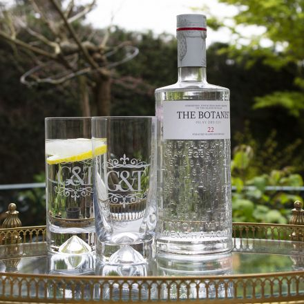 Single Hiball Gin & Tonic Tumbler (Dimple based) Engraved G&T (Gift Boxed)
