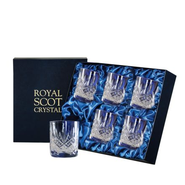 Glencoe - 6 Large Crystal Tumblers 95 mm (Blue Presentation Boxed) | Royal Scot Crystal