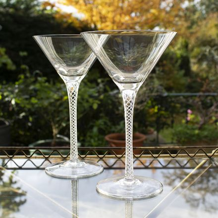 Jacobean Air Twist - 2 Gin Cocktail Glasses (Gift Boxed)