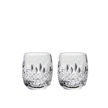 Mayfair Crystal 2 Gin & Tonic (G&T) Tumblers 12oz (Barrel Shaped) - 95mm (Gift Boxed) | Royal Scot Crystal