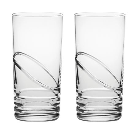 Saturn - 2 Crystal Tall Gin & Tonic Tumblers (Gift Boxed)