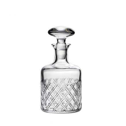 Tartan Crystal Round Gin Decanter - Gift Boxed