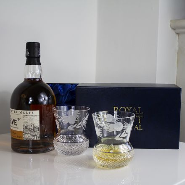 Flower of Scotland 2 Large Tumbler (Thistle Shape)  - 95mm (Presentation Boxed) | Royal Scot Crystal