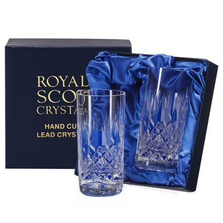 Westminster - 2 Crystal Tall Gin & Tonic Highball Tumblers (Presentation Boxed)